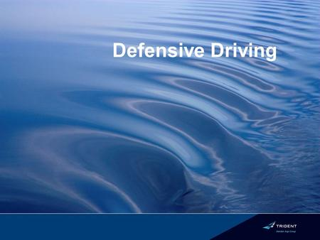 Defensive Driving. The Sad Facts Traffic crashes are the leading cause of all work place fatalities. Leading cause of death for those aged 5 to 24 Two.