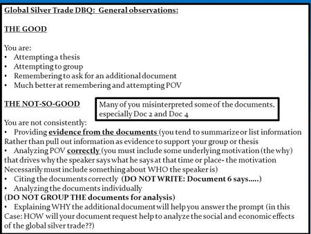trade dbq essay Essays - largest database of quality sample essays and research papers on what drove the sugar trade dbq.