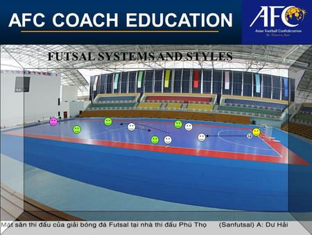 AFC COACH EDUCATION FUTSAL SYSTEMS AND STYLES. AFC COACH EDUCATION DEFINITION.