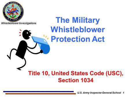 The Military Whistleblower Protection Act