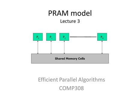 Efficient Parallel Algorithms COMP308
