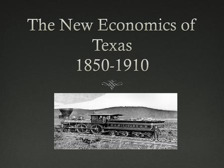 Questions to look for:  What transportation problems did Texans face before the building of railroads?  How did Texans encourage companies to build.