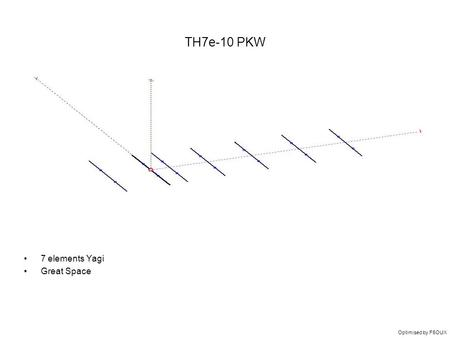 TH7e-10 PKW 7 elements Yagi Great Space Optimised by F5OUX.