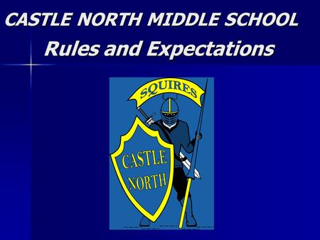 CASTLE NORTH MIDDLE SCHOOL Rules and Expectations Rules and Expectations.