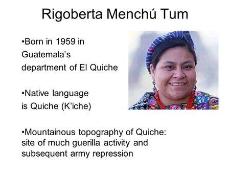 essays on rigoberta menchu