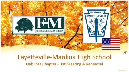 Fayetteville-Manlius High School Oak Tree Chapter – 1st Meeting & Rehearsal.