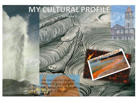 MY CULTURAL PROFILE By Blaike H