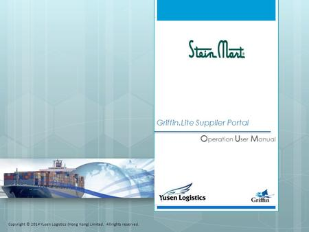 Griffin.Lite Supplier Portal