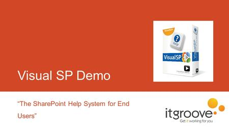 "Visual SP Demo ""The SharePoint Help System for End Users"""