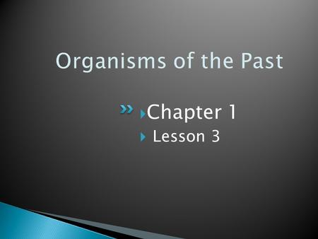 Organisms of the Past Chapter 1 Lesson 3.