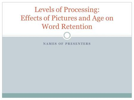 an analysis of the effect of deeper levels of processing on word retention The effects of levels of processing on memory length: 3245 words (93 double-spaced  this word (beach) is a 'deep' word as it instigated deep processing, asking the participant to consider the meaning of the word  craik, fim, & tulving, e (1975) depth of processing and the retention of words in episodic memory journal of.