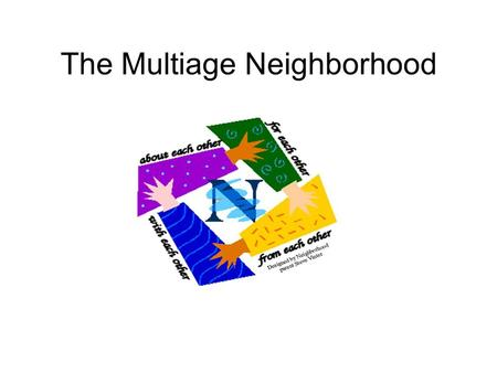 The Multiage Neighborhood. Multiage Neighborhood Philosophy  A balance of whole class and small group instruction, cooperative learning groups, and independent.