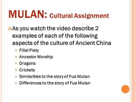 cultural assignment