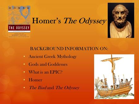 The Odyssey, Book I, Lines 1-20