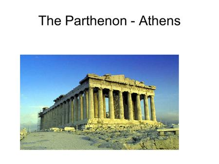 The Parthenon - Athens. Greek Vase Painting.