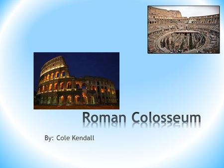 By: Cole Kendall. Julius Caesar wanted to show that he was the ultimate emperor so he locked people in the Colosseum.