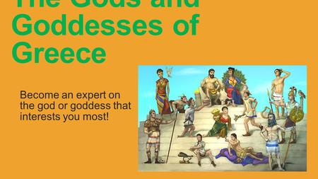 The Gods and Goddesses of Greece