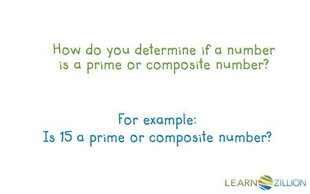 Is 15 a prime or composite number?