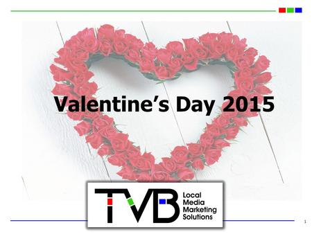 1 Valentine's Day 2015. 2015 Valentine's Day Spending Projected to be $19 Billion 2 Source: NRF Monthly Consumer Survey, January 2015.