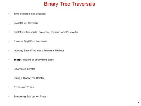 Binary tree breadth first search