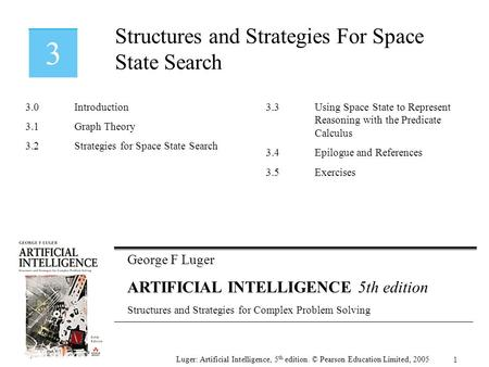 Structures and Strategies For Space State Search