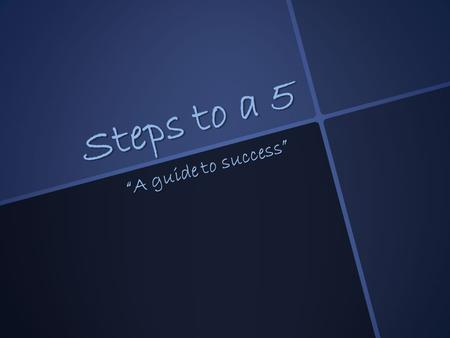 "Steps to a 5 ""A guide to success"". Table of Contents 1. College Board® website 2. Breadth -explanation -examples -advice 3. Concentration -explanation."