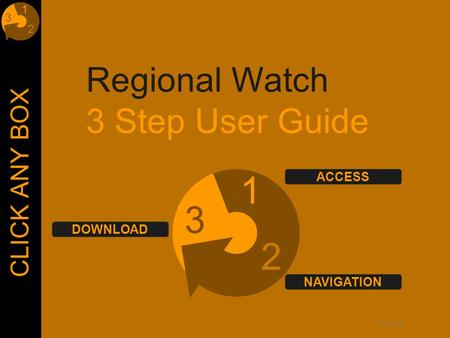© Lloyd's Regional Watch 3 Step User Guide 1 2 3 CLICK ANY BOX DOWNLOAD ACCESS NAVIGATION.