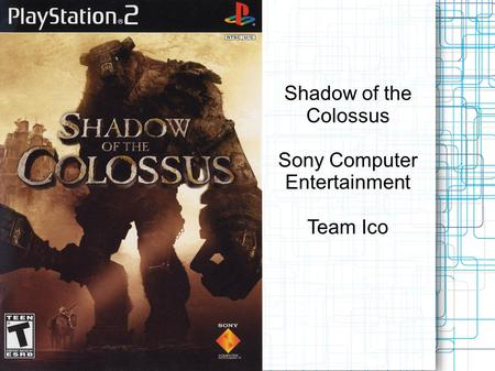 Shadow of the Colossus Sony Computer Entertainment Team Ico.