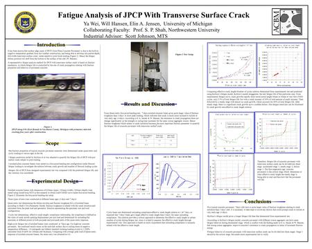 Fatigue Analysis of JPCP With Transverse Surface Crack Introduction Experimental Design Conclusions It has been known that surface edge crack of JPCP (Joint.