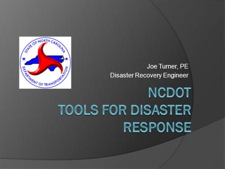 Joe Turner, PE Disaster Recovery Engineer. DIVISIONS AND DISTRICTS.