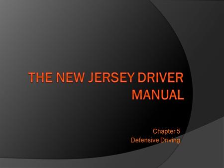 Chapter 5 Defensive Driving. Standard Collision Prevention Formula:  Be Alert  Be Prepared  Act in Time Aggressive Driving/Road Rage: a progression.