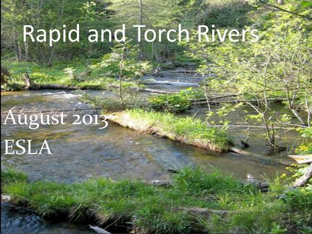 Rapid and Torch Rivers August 2013 ESLA. Issue: Increasing Sediment 1993 – Aarwood to Torch River.