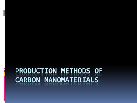 Production Methods of Carbon Nanomaterials