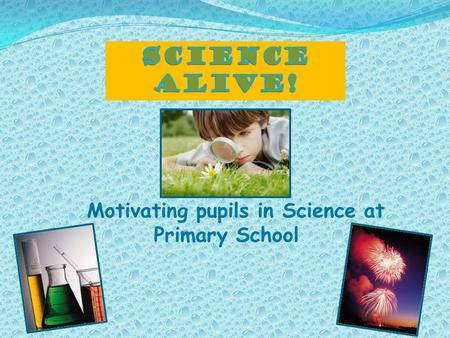 Motivating pupils in Science at Primary School.