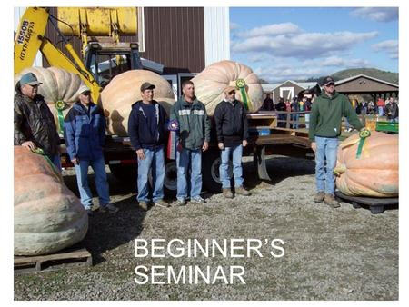 BEGINNER'S SEMINAR. Today's course topics: SITE SELECTIONSITE SELECTION SOILSOIL SEEDSSEEDS TRANSPLANTINGTRANSPLANTING PLANT CAREPLANT CARE FRUIT CAREFRUIT.