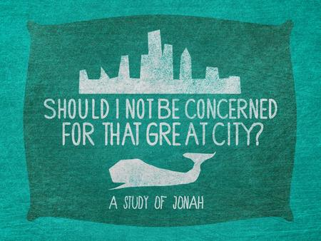 "Jonah gets off to a bad start… Jonah 1:1 1 The word of the L ORD came to Jonah son of Amittai: 2 ""Go to the great city of Nineveh and preach against it,"