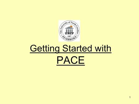 1 Getting Started with PACE. 2 Understanding the Objective What is PACE? Why are we doing this? Who is doing this? When are we doing this? How are we.