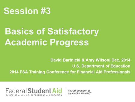 Basics of Satisfactory Academic Progress