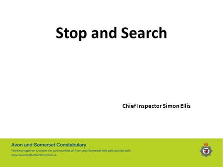 Stop and Search Chief Inspector Simon Ellis.