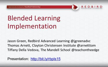 Blended Learning Implementation