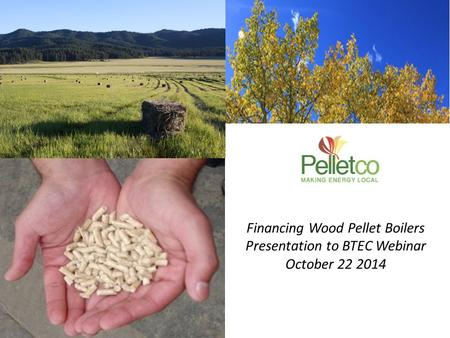 Financing Wood Pellet Boilers Presentation to BTEC Webinar October 22 2014.
