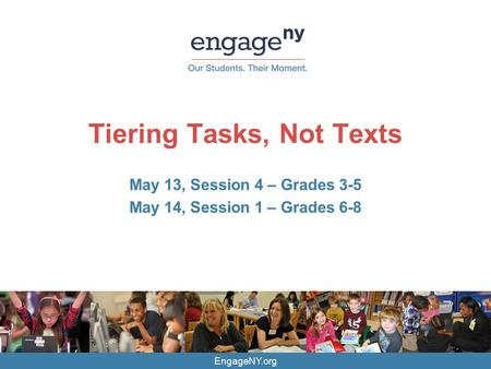 Tiering Tasks, Not Texts