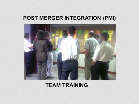 POST MERGER INTEGRATION (PMI) TEAM TRAINING. Introduction.
