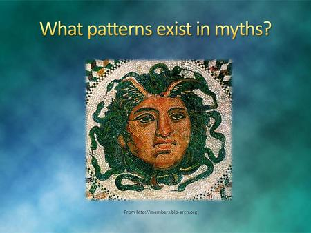 From  Explanation: Elements found in nature are often used symbolically in myths. From