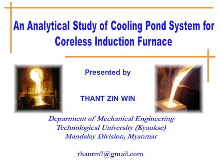 An Analytical Study of Cooling Pond System for