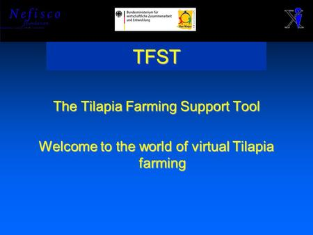TFST The Tilapia Farming Support Tool Welcome to the world of virtual Tilapia farming.