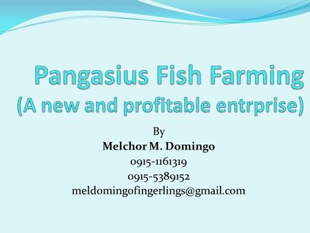 By Melchor M. Domingo 0915-1161319 0915-5389152