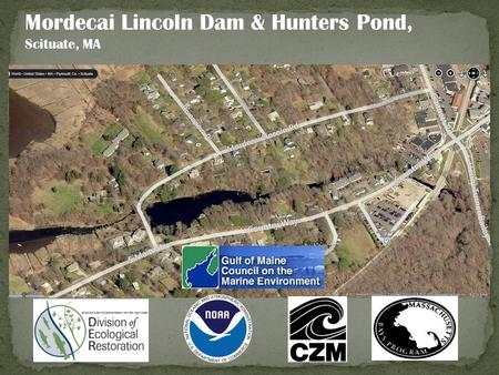 Mordecai Lincoln Dam & Hunters Pond, Scituate, MA Bound Brook.