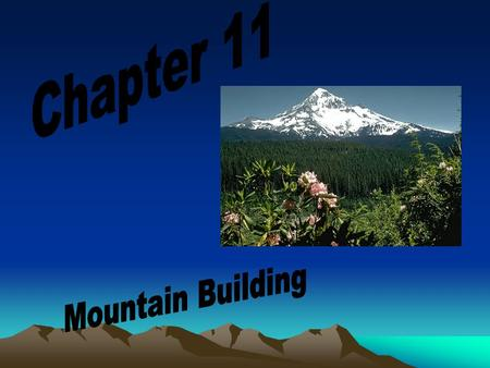 Chapter 11 Mountain Building.
