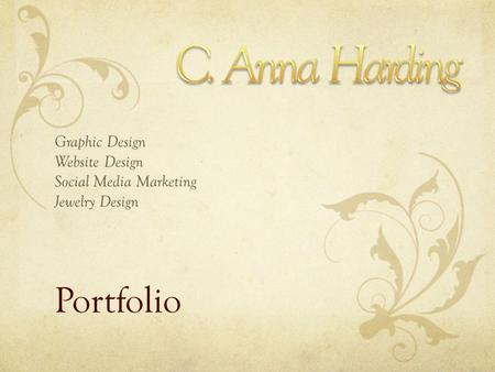 Portfolio Graphic Design Website Design Social Media Marketing Jewelry Design.